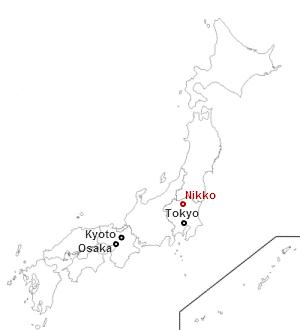 Dove si trova Nikko in Giappone